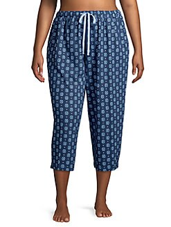 915e816c495e Plus Printed Cropped Pajama Pants GEO BLUE. QUICK VIEW. Product image