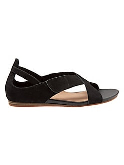 fedb1d227 QUICK VIEW. SoftWalk. Camilla Leather Cross-Strap Sandals