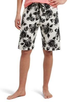 Image of Rose Touch Bermuda Sleep Shorts
