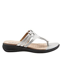 e5193560f Product image. QUICK VIEW. SoftWalk. Tracy Leather Thong Sandals