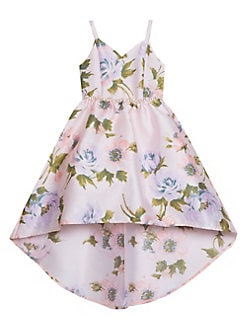 f5ff8a0ad664d Little Girl's Belted Floral High-Low Dress BLUSH FLORAL. QUICK VIEW.  Product image. QUICK VIEW. Rare Editions
