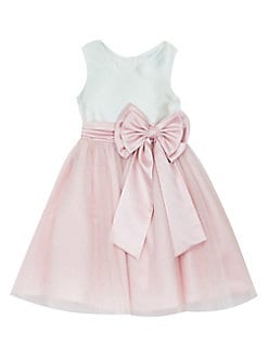 d466ac42c Product image. QUICK VIEW. Rare Editions. Little Girl's Bow-Accented Satin  & Mesh Dress