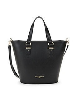 7ad9519c5f Ellie Leather Crossbody Tote BLACK GOLD. QUICK VIEW. Product image