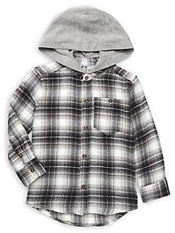 64cd51c80 QUICK VIEW. Dex. Little Boy's Hooded Plaid Shirt