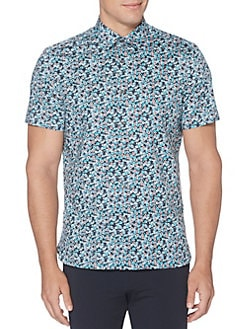 f38e7be7 QUICK VIEW. Perry Ellis. Regular-Fit Printed Button-Down Shirt