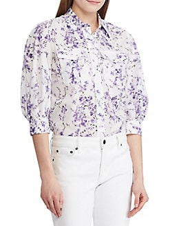 ad03727a7 Women's Button Down and Collared Shirts | Lord + Taylor