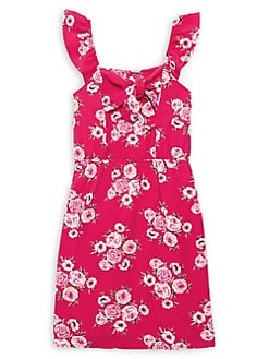f3c5e2a09 QUICK VIEW. Monteau. Girl's Sleeveless Floral Bow Dress