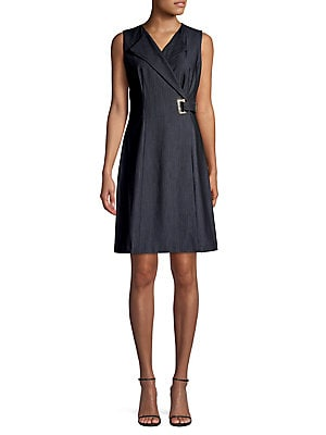 Belted A Line Dress by Quiz