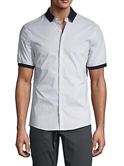06be3a29f6cd7c Product image. QUICK VIEW. Michael Kors. Pindot Ringer Short-Sleeve Shirt