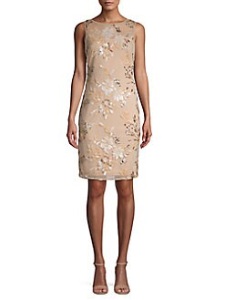 89f87d09b047b Product image. QUICK VIEW. Calvin Klein. Floral Embroidered Sheath Dress