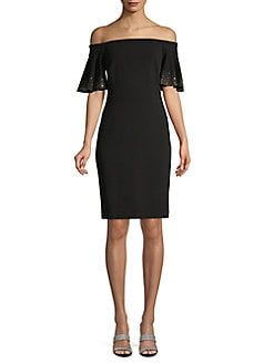 fe5e1def Product image. QUICK VIEW. Calvin Klein. Off-The-Shoulder Sheath Dress
