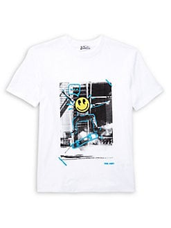 c3c7956be Product image. QUICK VIEW. Dex. Boy's Skateboard Scribble Graphic Tee