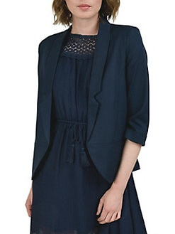 Jsj Petites Womens Ul Blazer Jacket Size 12 Vintage Colorblock Collarless Button 100% Guarantee Women's Clothing
