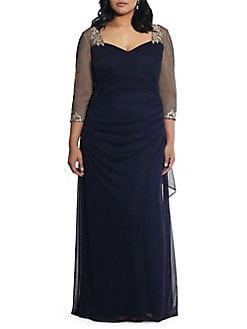 ff328f8e Product image. QUICK VIEW. Xscape. Plus Embellished Cocktail Gown