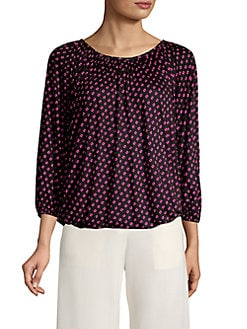 535f51aa511b16 QUICK VIEW. MICHAEL Michael Kors. Petite Three-Quarter Sleeve Dotted Top