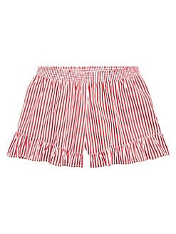Zoey Toddler Boys Girls Pink Plaid Striped Cotton Ruffle Skirts Shorts Size 3t Baby & Toddler Clothing