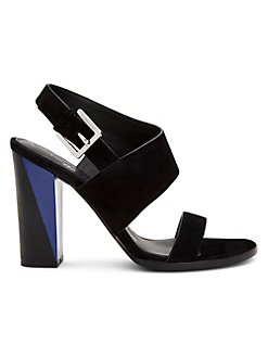 bd9b973c9c Product image. QUICK VIEW. Calvin Klein. Carina Heeled Suede Dress Sandals
