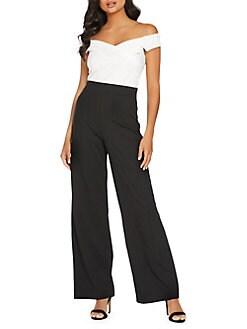 3ea7699fc9 QUICK VIEW. QUIZ. Off-The-Shoulder Wide-Leg Jumpsuit