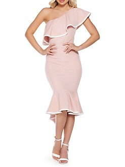 6cc9fdf2f6 QUICK VIEW. QUIZ. Asymmetrical One-Shoulder Midi Dress