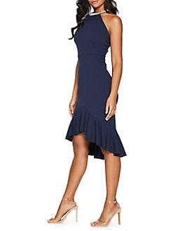 a7e1b98907 QUICK VIEW. QUIZ. Embellished Neck High-Low Dress