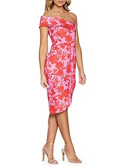 b0d4680e Floral Asymmetrical Sheath Dress PINK. QUICK VIEW. Product image