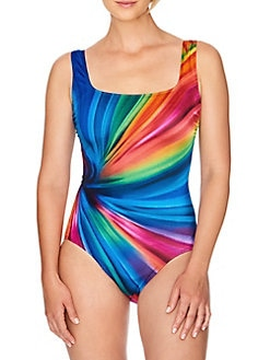 2b7c0ac3a2 QUICK VIEW. Longitude. Twisted Ways Panel Scoopneck 1-Piece Swimsuit