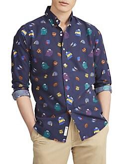f8ae27e9731428 QUICK VIEW. Polo Ralph Lauren. Classic-Fit Print Oxford Button-Down Shirt