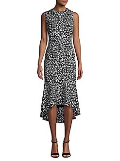 171e10cc QUICK VIEW. Calvin Klein. Sleeveless Floral Hi-Lo Sheath Dress