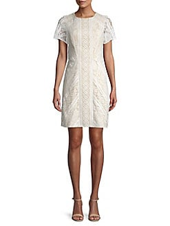 6a99ef4e QUICK VIEW. Eliza J. Short Sleeve Lace Dress
