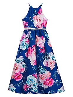 8f3f04893d33 Product image. QUICK VIEW. Rare Editions. Girl's Floral-Print Fit-&-Flare  Gown