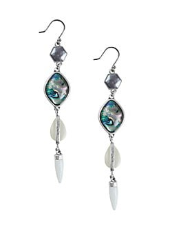 cabe8fc52b8 Silvertone Geo-Linear Drop Earrings SILVER. QUICK VIEW. Product image