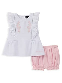 f179ce1b1bac1 Baby Girl's 2-Piece Ruffled Top and Bloomers Set ASSORTED. QUICK VIEW.  Product image