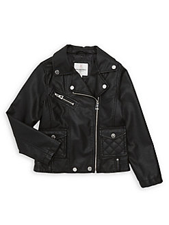 304375738 Product image. QUICK VIEW. Urban Republic. Girl's Faux Leather Moto Jacket