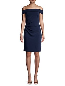 f130ca351fff QUICK VIEW. Vince Camuto. Off-the-Shoulder Crepe Dress