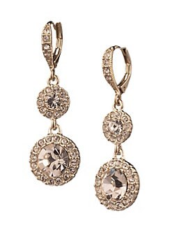 156ff458d Rose Goldplated and Crystal Round Double Drop Earrings ROSE GOLD. QUICK  VIEW. Product image. QUICK VIEW. Givenchy
