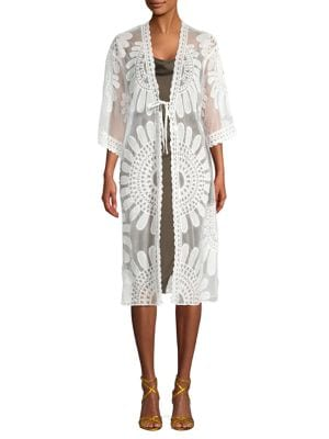 Image of Floral Lace Cover-Up