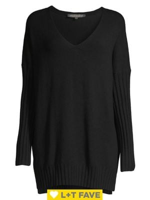Image of Vhari Ribbed-Sleeve Sweater