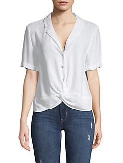 d725083c Product image. QUICK VIEW. BCBGeneration. Twist Front Buttoned Shirt