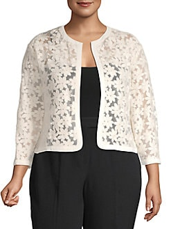 ddfda14fb8 Product image. QUICK VIEW. Anne Klein. Plus Floral Lace Cardigan