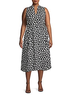 79b27cb7cc6 Product image. QUICK VIEW. Anne Klein. Plus Splitneck Drawstring Midi Dress