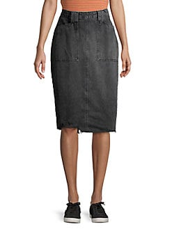 f682d11c0f2cff Elisa Denim Pencil Skirt BLACK. QUICK VIEW. Product image