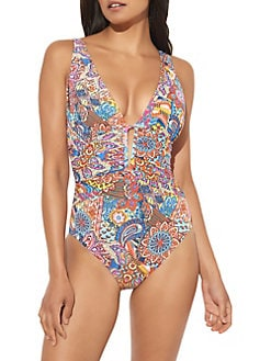 76ab2a29d9 Product image. QUICK VIEW. Bleu Rod Beattie. Printed One-Piece Swimsuit
