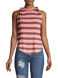 3d044b3ed4d QUICK VIEW. Free People. Twist Striped Cotton Tank Top