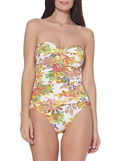 7339da9ccb832 QUICK VIEW. Bleu Rod Beattie. Printed Bandeau One-Piece Swimsuit