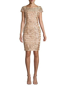 2b5c4f4f2c8 Product image. QUICK VIEW. Calvin Klein. Embellished Lace Mesh Sheath Dress