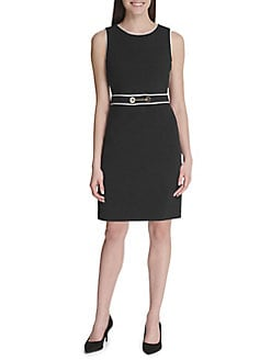 95cc4aa9 Chain Contrast Sheath Dress BLACK IVORY. QUICK VIEW. Product image. QUICK  VIEW. Tommy Hilfiger