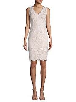 29048c3a QUICK VIEW. Vince Camuto. Floral Lace Sleeveless Sheath Dress