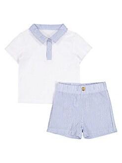 46eabd920 QUICK VIEW. Andy & Evan. Baby Boy's 2-Piece Seersucker Polo & Shorts Set.  $49.00