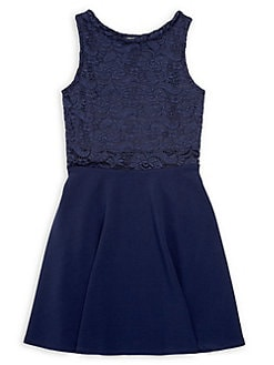 ff59ae0bfd06 QUICK VIEW. Sally Miller. Girl's Sleeveless Lace Mix Dress