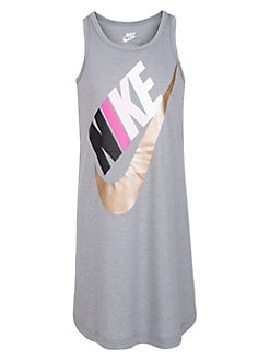 7a13dacea016 QUICK VIEW. Nike. Little Girl's Sleeveless Logo Jersey Dress. $26.00 Now  $15.60